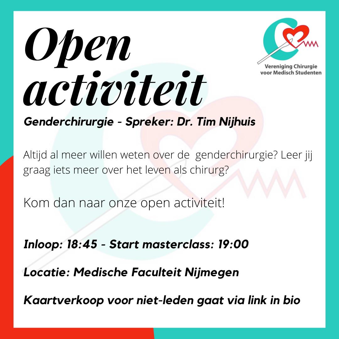 Open activiteit Genderchirurgie